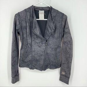 New Balance Moto Full Zip Jacket XS Faux leather